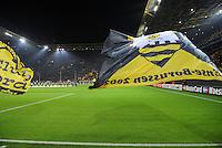 FUSSBALL   CHAMPIONS LEAGUE   SAISON 2011/2012  Borussia Dortmund - Olympique Marseille   06.12.2011 Fahnen im Signal Iduna Park