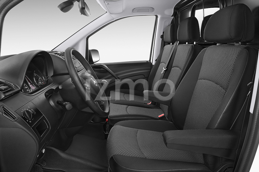 Front seat view of a 2013 Mercedes Benz Vito 113CDi SWB Long 4 Door Cargo Van 2WD Front Seat car photos