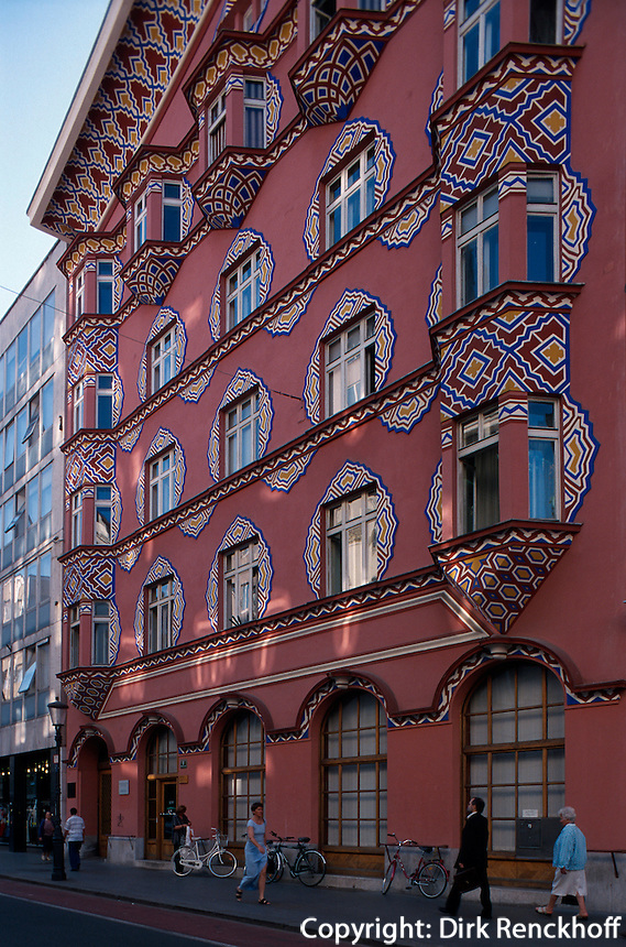 Slowenien. Ljubljana, ehemalige Genossenschaftsbank, Jugendstilhaus