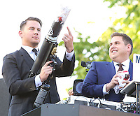 WESTWOOD, LOS ANGELES, CA, USA - JUNE 10: Channing Tatum, Jonah Hill at the World Premiere Of Columbia Pictures' '22 Jump Street' held at the Regency Village Theatre on June 10, 2014 in Westwood, Los Angeles, California, United States. (Photo by Xavier Collin/Celebrity Monitor)