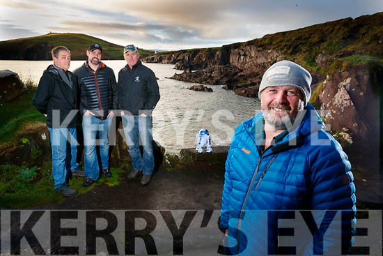 "Kerry Crew who worked on Star Wars ""The Force Awakens"" and ""The Last Jedi"" pictured on Monday at Bin Ban Beach in Dingle were l-r: Mark Greely, Cian O'Driscoll, Raymond Coffey and Mike O'Shea."