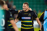 Dylan Hartley of Northampton Saints is all smiles after the match. Gallagher Premiership match, between Northampton Saints and Harlequins on September 7, 2018 at Franklin's Gardens in Northampton, England. Photo by: Patrick Khachfe / JMP