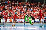 Eskilstuna 2014-05-15 Handboll SM-semifinal Eskilstuna Guif - Alings&aring;s HK :  <br /> Alings&aring;s Pontus Johansson tar ett avslut mot m&aring;l framf&ouml;r publiken i Sporthallen i Eskilstuna<br /> (Foto: Kenta J&ouml;nsson) Nyckelord:  Eskilstuna Guif Sporthallen Alings&aring;s AHK SM Semifinal Semi supporter fans publik supporters