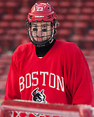Jakob Forsbacka Karlsson (BU - 23) - The Boston University Terriers practiced on the rink at Fenway Park on Friday, January 6, 2017.The Boston University Terriers practiced on the rink at Fenway Park on Friday, January 6, 2017.
