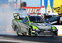 Feb 24, 2017; Chandler, AZ, USA; NHRA funny car driver Alexis DeJoria during qualifying for the Arizona Nationals at Wild Horse Pass Motorsports Park. Mandatory Credit: Mark J. Rebilas-USA TODAY Sports