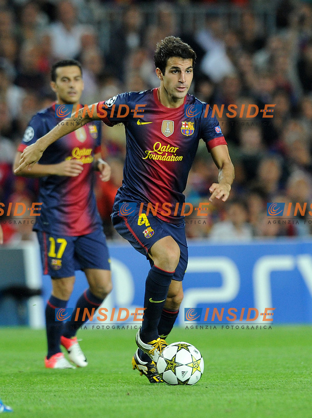 Cesc Fabregas (Barcelone)  .Barcellona 19/9/2012 Stadio Nou Camp.Football Calcio Champions League 2012/2013.Barcellona Vs Spartak Mosca.Foto Paco Largo / Insidefoto / Panoramic.ITALY ONLY.