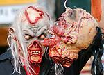 Zombie Walk Seoul, Oct 17, 2015 : A man attends Zombie Walk Seoul in central Seoul, South Korea. (Photo by Lee Jae-Won/AFLO) (SOUTH KOREA)