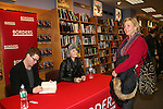 """Trent Dawson & Ewa da Cruz & Maggie Carpenter who was on the show just before Christmas and who wanted to publish The Man from Oakdale  - a Novel by Henry Coleman with Alina Adams instead of """"Lucinda Walsh"""" - ATWT pose on January 31, 2009 at Borders in Westbury, New York for a booksigning with fans. (Photo by Sue Coflin/Max Photos)"""