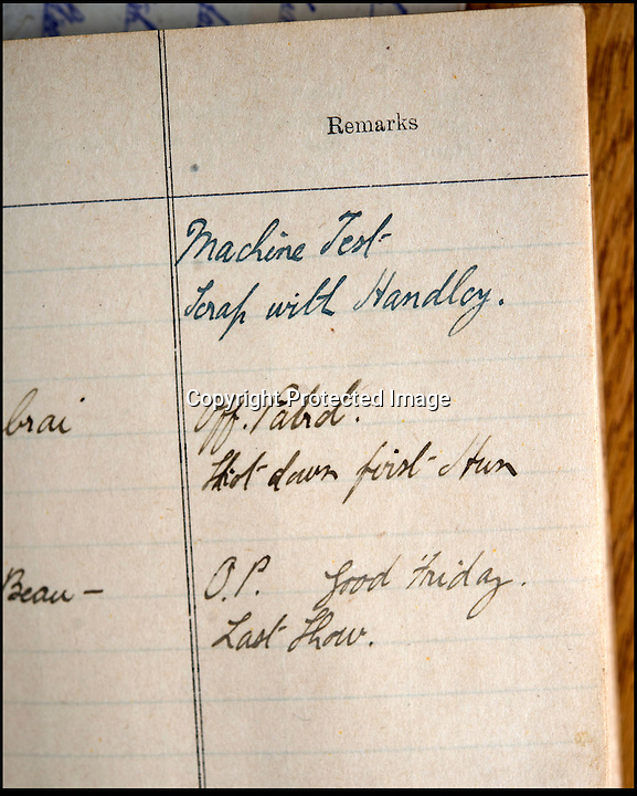 BNPS.co.uk (01202 558833)<br /> Pic: C&T/BNPS<br /> <br /> Lieutenant Thomas Frank Burrill's flying log book with an entry stating he was shot down.<br /> <br /> The forgotten story of the 'first' great escape has re-emerged almost 100 years later after a PoW's treasure trove of belongings was uncovered.<br />  <br /> Lieutenant Thomas Frank Burrill was a detainee at Holzminden prisoner of war camp, located in northern Germany, on the night of July 23 1918 when a mass bid for freedom was made less than four months before the end of World War I. <br /> <br /> Ultimately the tunnel troops had spent nine months digging using just pieces of cutlery collapsed when only 29 of the PoWs had managed to crawl free, with 19 later captured and 10 making it to the safety of neutral Holland before being welcomed back to Britain as heroes. <br /> <br /> The story has come to light again as never-seen-before items owned by Lt Burrill, a fighter pilot shot down from his Airco DH.4 in April 1918, are set to be auctioned on Wednesday.