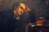 Europe/France/Aquitaine/64/Pyrénées-Atlantiques/Cambo-Les-Bains: Villa Arnaga - La demeure Edmond Rostand - Portrait de E. Rostand (Pacau)