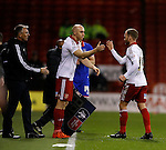 Conor Sammon of Sheffield Utd comes on for Matt Done of Sheffield Utd - FA Cup Second round - Sheffield Utd vs Oldham Athletic - Bramall Lane Stadium - Sheffield - England - 5th December 2015 - Picture Simon Bellis/Sportimage