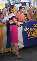 NEW YORK, NY August 07: Ginger Zee on the set of of Good Morning America in New York City on August 07, 2018. <br /> CAP/MPI/RW<br /> &copy;RW/MPI/Capital Pictures
