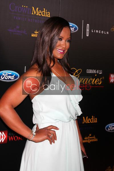 Laila Ali<br /> at the 40th Anniversary Gracies Awards, Beverly Hilton, Beverly Hills, CA 05-19-15<br /> David Edwards/DailyCeleb.com 818-249-4998