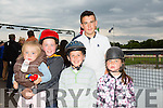 Shauna Chalke, Katie Chalke, Jamie Lee Chalke, Mark Chalke and Darragh chalke from Ballymac enjoying THE 'Friends Of Kerry General Hospital Benefit Night at the Kingdom Greyhound stadium on Friday