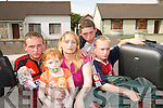 HOMELESS: Karen Douglas and her children who are unable to find suitable accommodation in Listowel before the lease of their rented house runs out on August 10th..L/r. Paul (17), Karen, Siobhan (4), Dillon (16) and Eoin (14)..