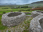 County Kerry, Ireland: Cahergall Stone Fort on the dingle peninsula