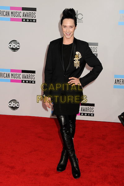 JOHNNY WEIR.2010 American Music Awards - Arrivals held at Nokia Theatre L.A. Live, Los Angeles, California, USA..November 21st, 2010.amas ama full length black hand on hip leather jacket otk thigh high boots .CAP/ADM/BP.©Byron Purvis/AdMedia/Capital Pictures.
