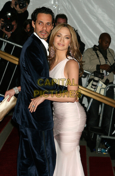 "MARC ANTHONY & JENNIFER LOPEZ .Arrivals at the Metropolitan Museum of Art Costume Institute Benefit Gala ""AngloMania: Tradition and Transgression in British Fashion"" at the Metropolitan Museum of Art, New York - NY, USA, .May 1st, 2006.Ref: IW.half length pink dress blue suit jacket married husband wife.www.capitalpictures.com.sales@capitalpictures.com.©Capital Pictures"