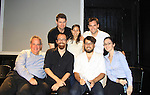 "As The World Turns Trent Dawson and cast (L to R - back row: Trent, Ilana Becker - director,  Harrison Unger. Front: Daniel Marcus, Christopher Norwood, Will Arbery - playwright, and ) as a part of the benefit staged reading of ""The Confession"" presented the The Platform Group and a part of The Ladder Series on August 26, 2012 at Creek & Cave, Long Island City, New York.  (Photo by Sue Coflin/Max Photos)"