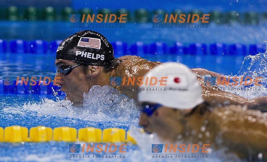 Michael Phelps USA.Men's 100m Freestyle - Swimming / Nuoto.Shanghai 27/7/2011 .14th FINA World Championships.Foto Giorgio Scala Insidefoto