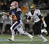 MacArthur running back No. 28 Vin Martino carries the ball during the Nassau County varsity football Conference II final against Wantagh at Hofstra University on Friday, Nov. 20, 2015. He rushed 35 times for 184 yards and three touchdowns in MacArthur's 28-14 win.<br /> <br /> James Escher