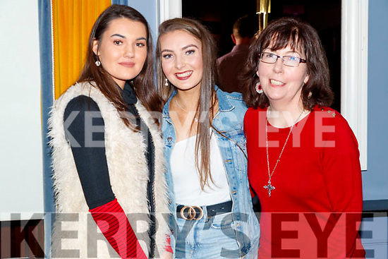 Pictured at Sickly Come Dancing, UHK, at Ballygarry House Hotel & Spa, Tralee on Friday night last, were l-r: Orla O'Sullivan, Emily O'Sullivan and Leesha Foley.