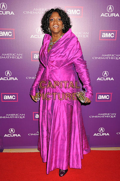 ANNA MARIA HORSFORD.23rd Annual American Cinematheque Awards at the Beverly Hilton Hotel, Beverly Hills, California, USA..December 1st, 2008.full length pink dress silver clutch bag.CAP/ADM/BP.©Byron Purvis/AdMedia/Capital Pictures.