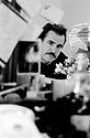 Brian Cox Actor in Theatre dressing room mirror 1989 CREDIT Geraint Lewis