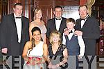 All dressed up at the Kerry County Hunt club in the Killarney Avenue Hotel on Friday night front row l-r: Katie Cahill Dublin, Vera Sugrue Farmers Bridge, Richard Kelleher Abbeyfeale, Joan Cullinane Cordal, Colin O'Grady Killarney, Ross Sugrue Farmers Bridge and James Egan Scartaglen..