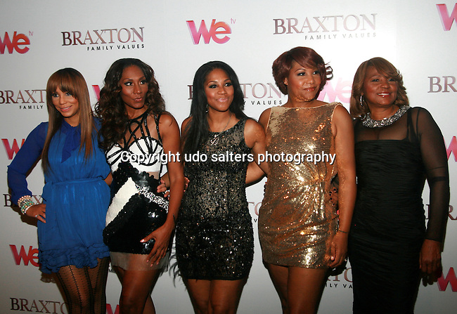 Tamar Braxton, Towanda Braxton, Trina Braxton, Traci Braxton and Evelyn Braxton Attend Premiere Screening of BRAXTON FAMILY VALUES Season 2 Held at Tribeca Grand, NY 11/8/11