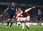 2nd November 2017, Emirates Stadium, London, England; UEFA Europa League group stage, Arsenal versus Red Star Belgrade; Olivier Giroud of Arsenal taking a shot which went over the bar