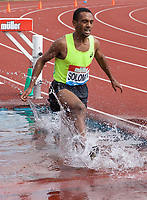 Napoleon Solomon of Sweden competing in the Men's 3000m Steeplechase during the Muller Grand Prix  IAAF Diamond League meeting at Alexander Stadium, Perry Barr, Birmingham.<br /> Picture by Alan Stanford +44 7915 056117<br /> 18/08/2018