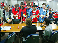 Media room at the FIFA World Cup 2002.