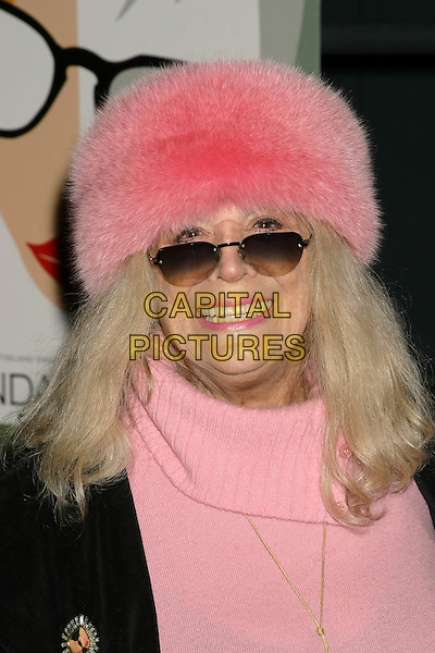 "SYLVIA MILES.""Melinda and Melinda"" New York Premiere, Chelsea West Theater, New York City, New York  - Outside Arrivals.March 16th, 2005 .heeadshot portrait sunglasses shades pink furry hat.www.capitalpictures.com.sales@capitalpictures.com.© Capital PIctures"