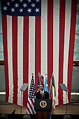 Fort Hood, TX - November 10, 2009 -- United States President Barack Obama pays tribute to fallen soldiers, who died in the shooting spree last Thursday, at a Memorial Service held at Fort Hood, Texas on Tuesday, November 10, 2009..Credit: Erin Trieb / Pool via CNP