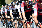 Christopher Froome (GBR) and Team Sky in the peloton during Stage 6 of the 2018 Tour de France running 181km from Brest to Mur-de-Bretagne Guerledan, France. 12th July 2018. <br /> Picture: ASO/Alex Broadway | Cyclefile<br /> All photos usage must carry mandatory copyright credit (© Cyclefile | ASO/Alex Broadway)