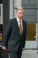 King Philippe of Belgium visits the Jewish museum in Brussels - Belgium