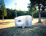 A 13' custom built Shasta vintage travel trailer.