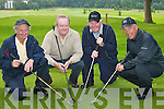 Sean OSullivan, John Houlihan, John Breen and John.Galvin (all Dooks) who participated in the Golf Classic.in aid of Kerry Cystic Fibrosis in Laccabawn, Killarney,.last Friday.