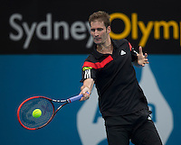 Florian Meyer (GER)<br /> <br /> Tennis - APIA International  - Sydney -  Olympic Park  -  Holmbush - Australia  - Tuesday 7th January 2014. <br /> <br /> &copy; AMN Images, 8 Cedar Court, Somerset Road, London, SW19 5HU<br /> Tel - +44 7843383012<br /> mfrey@advantagemedianet.com<br /> www.amnimages.photoshelter.com<br /> www.advantagemedianet.com<br /> www.tennishead.net