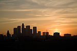 Downtown Los Angeles Sunset Skyline Photos