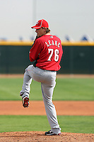 Mike Leake. Cincinnati Reds spring training workouts at the Reds new complex, Goodyear, AZ - 02/19/2010.Photo by:  Bill Mitchell/Four Seam Images.