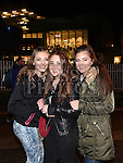 Eleisha Harding, Kinga Kipran and Eleonora Borisoba at the Fireworks display sponsored by Funtasia at Scotch Hall Shopping Centre as part of the Drogheda Christmas BonanzaFestival. Photo:Colin Bell/pressphotos.ie