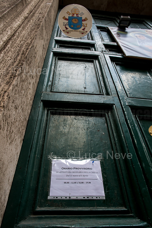 Church: open (but mass and events are not allowed). <br />