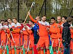 ROTTERDAM -  Line up nederland,  Mirco Pruijser (NED)   voor  de Pro League hockeywedstrijd heren, Nederland-Spanje (4-0) . COPYRIGHT KOEN SUYK