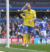 Leeds United's Pontus Jansson looks dejected<br /> <br /> Photographer Mick Walker/CameraSport<br /> <br /> The EFL Sky Bet Championship - Birmingham City v Leeds United - Saturday 6th April 2019 - St Andrew's - Birmingham<br /> <br /> World Copyright © 2019 CameraSport. All rights reserved. 43 Linden Ave. Countesthorpe. Leicester. England. LE8 5PG - Tel: +44 (0) 116 277 4147 - admin@camerasport.com - www.camerasport.com