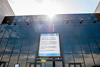 A notice is posted in front of the Smithsonian National Air and Space Museum, to inform people that the museum is closed as the United States deals with the COVID-19 pandemic in Washington, DC, Tuesday, March 17, 2020. Credit: Rod Lamkey / CNP/AdMedia