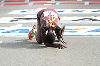 SÃO PAULO, SP, 17.05.2015 - MARATONA-SP - Carloyne Chemutai Komen primeira colocada da prova feminina da XXI Maratona Internacional de São Paulo, na manhã deste domingo dia 17, com largada iniciada no Obelisco do Parque do Ibirapuera. (Foto Amauri Nehn/Brazil Photo Press)
