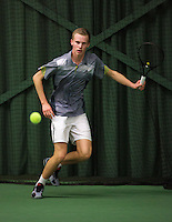Rotterdam, The Netherlands, 15.03.2014. NOJK 14 and 18 years ,National Indoor Juniors Championships of 2014, Stephan Gerritsen (NED)<br /> Photo:Tennisimages/Henk Koster