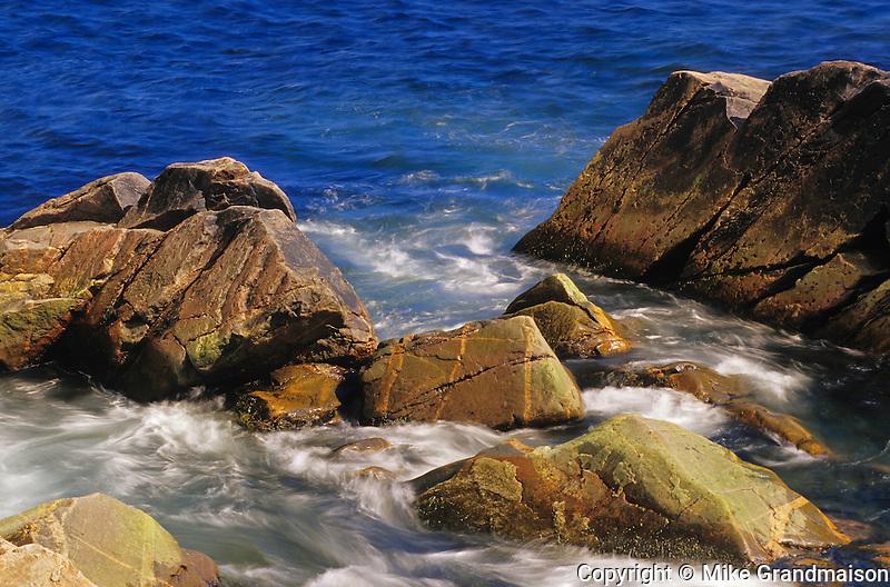 Shoreline of Atlantic Ocean<br /> Cape Breton Highlands National P<br /> Nova Scotia<br /> Canada